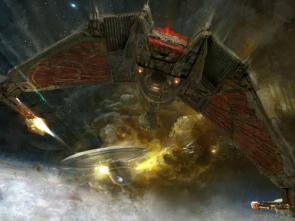 Star Trek Wallpaper: Bird of Prey Vs Excalibur Class Star Ship