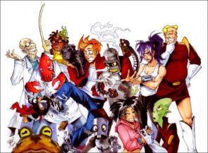 Futurama Anime Group Shot