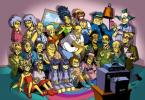 Simpsons Anime Group Shot