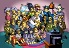 Simpsons Anime Group Shot
