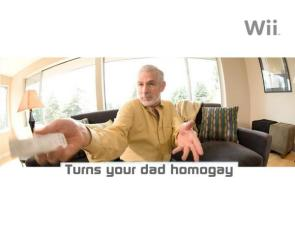 Wii Wallpaper- Turns Your Dad Homo Gay