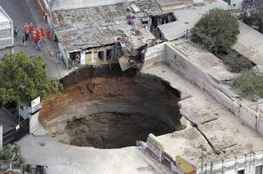 Sink Hole Pictures From Guatemala