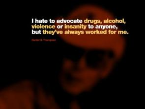 Hunter Thompson Quote Wallpaper
