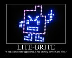 Lite-Brite- Sinister Appearance