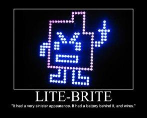Lite-Brite- Sinister Appearance
