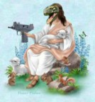 Raptor Jesus With Babe