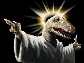 Raptor Jesus Watercolor Wallpaper