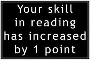Reading Skill +1