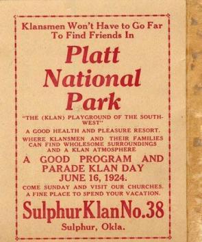 Platt National Park – Endorsed by the Klan!