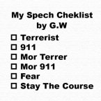 G.W. Speach Checklist