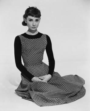 Audrey Hepburn On Her Knees