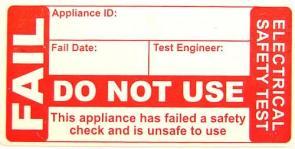 Failed Appliance Tag