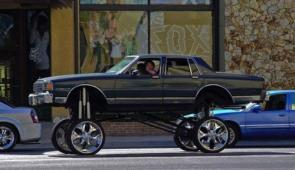 Hip Hop Jacked Up Car