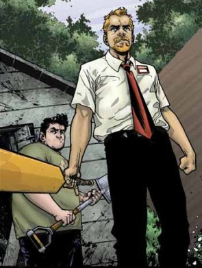 Shaun Of The Dead Comic Panel