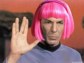 Spock with pink hair