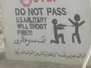 DO NOT PASS US Military Will Shoot Fire!