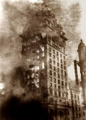 San Francisco 1906 Building Fire