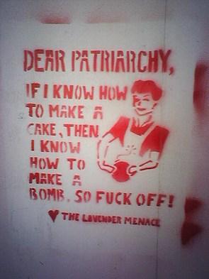 Dear Patriarchy Graffiti