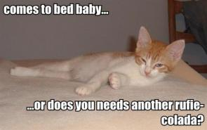 Comes to bed baby… or does you needs another rufie-colda?