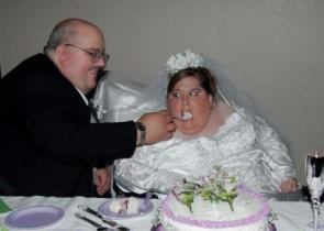 Fat Wedding With Cake!
