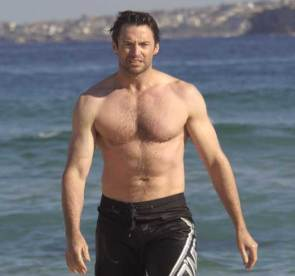 Hugh Jackman Beach Picture