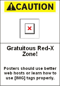 Gratuitous Red X Zone