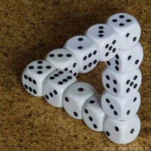 Impossible Dice Stack