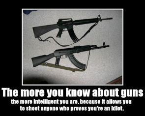 The More You Know About Guns Motivational Poster