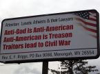 Atheists will cause civil war.