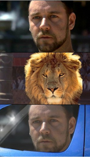 Russel Crowe – It's a Lion, Get In The Car!
