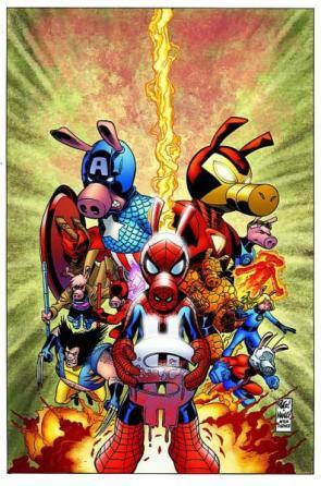 Spider-Ham and the Marvel Comics Civil War Money Maker