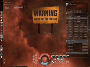 Eve Online Sign Warning