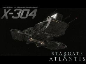 Stargate Atlantis X-304 Daedalus Interstellar Battleship Wallpaper