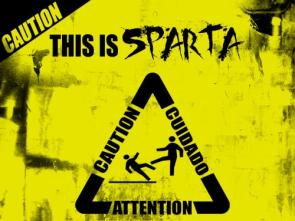Caution – This is SPARTA wallpaper