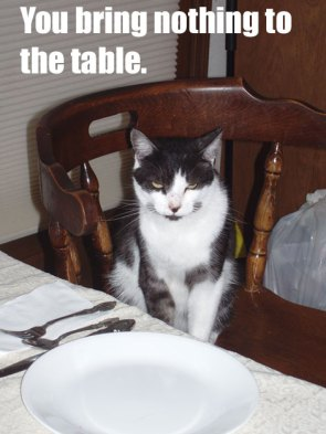 You Bring Nothing To The Table