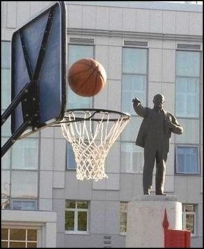Lenin shoots, and he scores!