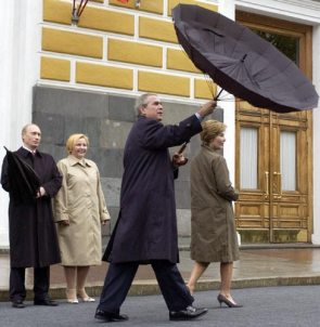 Bush And His Umbrella