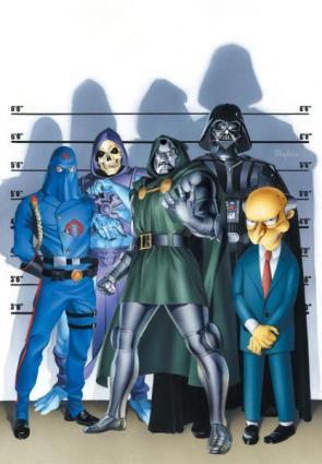 Ultimate Comic Book Villian Line Up