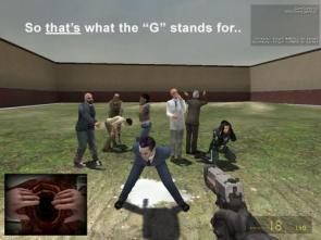 What the G stands for in G-Man (half life)