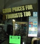 Yes, I'd like to buy a tourist!