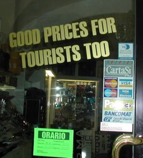 Yes, I'd like to buy a tourist!