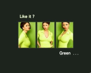 Green Girl Wallpaper