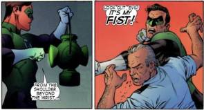 Green lantern hal jordan : From the Shoulder, Beyond the wrist… look out evil! It's my fist!