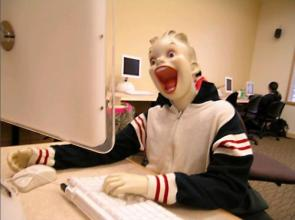 happy internet surfer