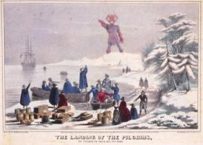 The Landing Of the Pilgrims, As seen by Galactus