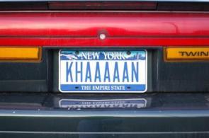 Khaaaaan Licence Plate