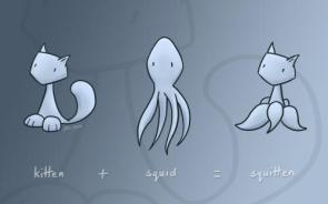 kitten + squid = squitten widescreen wallpaper