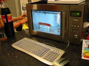 Microwave Computer Case Mod