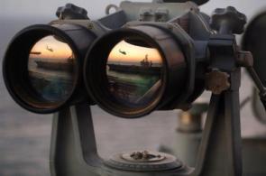 Navy Binoculars (widescreen hi-res wallpaper)