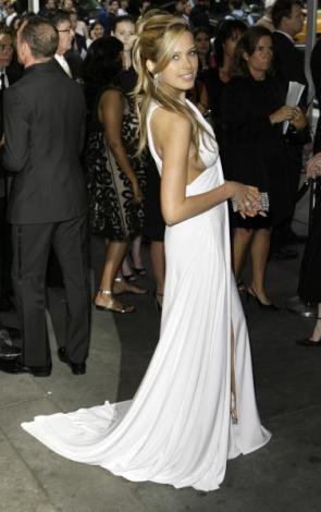 Petra Nemcova in a sexy white dress